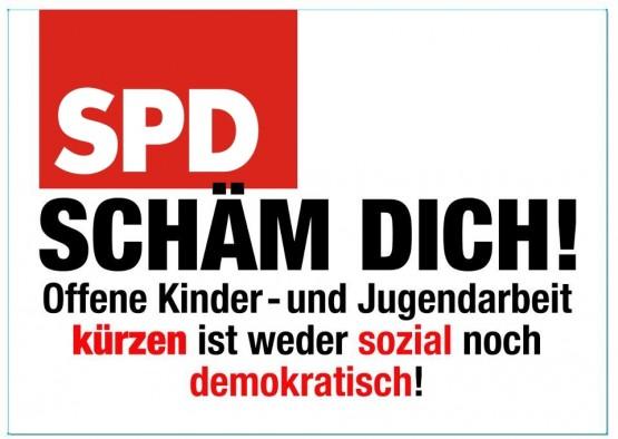 Aufkleber SPD SCHÄM DICH!